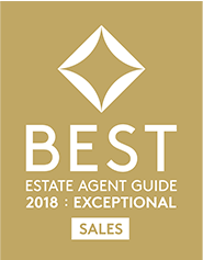 Awarded best estate agent guide 2018 : Exceptional in Sales